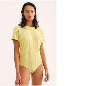 Free People In My Tee Lime T Shirt Bodysuit